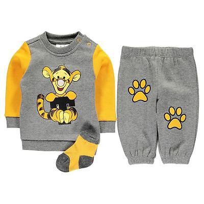 Offical Disney Boys Tigger Outfit Set Ages 0-24 Months
