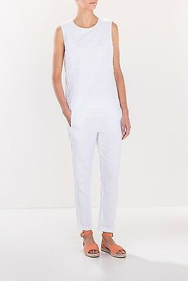 BNWT Trenery by County Road White Linen Pants size 8