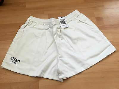 Bnwt-Cotton Traders White Twill Rugby Shorts Size Xl & L