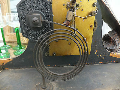 Antique Thomas Haller Mantle Chiming Clock Workings for Spares and Repairs
