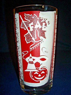 """Vintage 5"""" Jelly Glass Fall Graphics in Red"""
