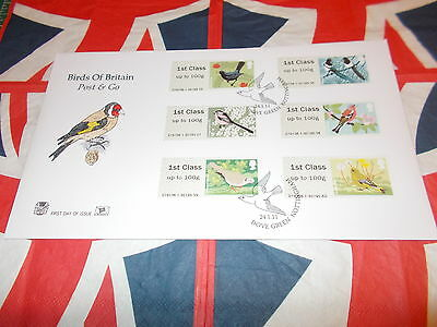 British Post & Go Birds Of Bri First Day Cover 2011 Stuart Cover