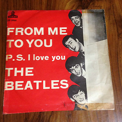 The Beatles From Me To You 1963 Rare Sweden Red Cvr Original Ps 45 7""