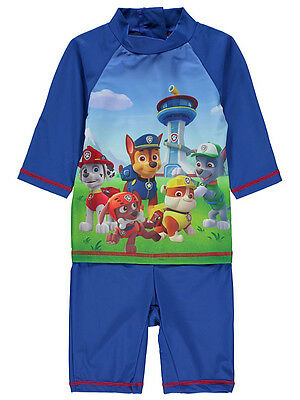 Baby Boys Swimsuit Paw Patrol UV Sun Protection UV40 Sunsafe Surfsuit NEW BNWT