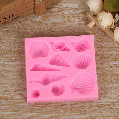 Cake Decorating With Chocolate Candy : 12 holes Silicone Cake Baking Mould Pan Shell Cookie ...