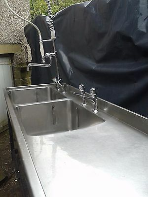 Stainless Steel Catering Double Bowl Sink (Approx 2 M)