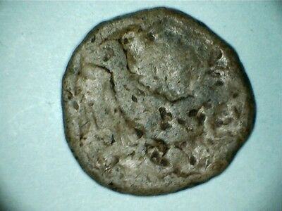 rare roman bird lead token  20mm diam  weight 8.7 grams abt 400 ad approx fair