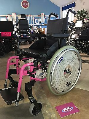 Invacare Action 3 Junior Evolutive Pink Self Propelled, Wheelchair Childs, Small