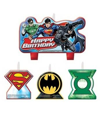 Justice League Birthday Candles - Batman Superman Birthday Cake Decorating