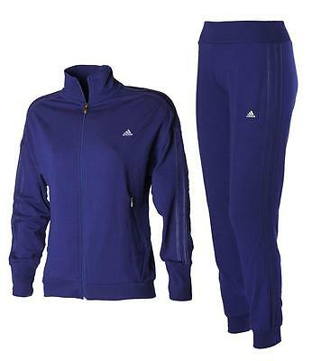 adidas LPW Shiny TS Damen Jogginganzug Trainingsanzug Midnight Sport Anzug