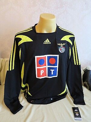 Benfica Football Shirt 2007 2008 Gk Goalkeeper L Bnib Rare New Adidas Black