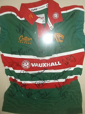 signed shirt leicester tigers.