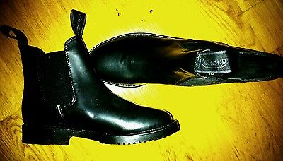 Rhinegold  boots classic horse riding  black, size 4