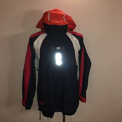 Mens Helly Hansen Hooded Waterproof Sailing Offshore Jacket Size M
