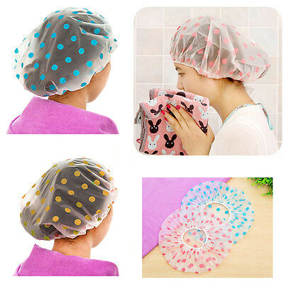 3x Waterproof Hotel Home Shower Bathing Clear Hair Elastic Caps Spa Elastic Hat