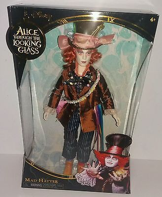 """Disney Alice Through The Looking Glass Mad Hatter 12"""" Doll Mib New"""
