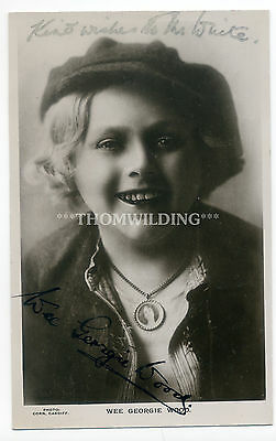 WEE GEORGIE WOOD Child Mimic MUSIC HALL Pantomime THEATRE Ink Signed AUTOGRAPH