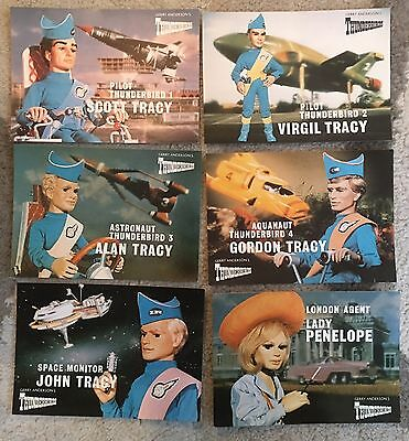 Gerry Anderson Thunderbirds Engale  6 X Postcards