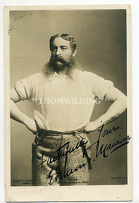 EDMUND MAURICE 'Trilby' THEATRE Ink Signed AUTOGRAPH