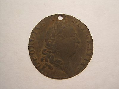 CONTEMPORARY FAKE BASE METAL GEORGE III GUINEA 1790 (metal detecting find)