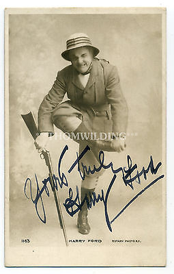HARRY FORD Eccentric Comedian MUSIC HALL Theatre PANTOMIME Ink Signed AUTOGRAPH