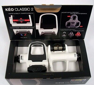 Look Keo Classic 2 White/Black Road Pedals 2016