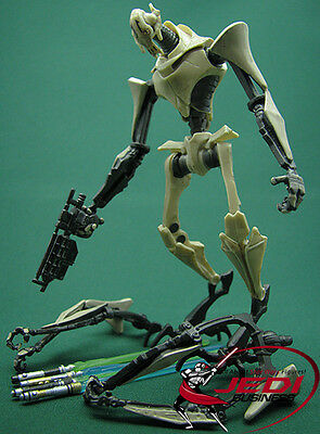 Star Wars General Grievous With 4 Lightsabers Attack Loose