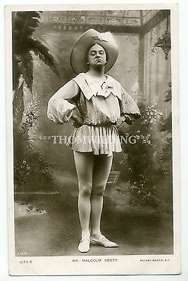MALCOLM SCOTT Female Impersonator MUSIC HALL Variety Theatre PANTOMIME