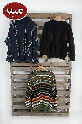 VINTAGE WHOLESALE JOBLOT Crazy Print Cosby Coogi Style 80's Sweater Mix x 10