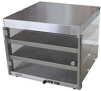 "Adcraft PW-16 Commercial Countertop Heated Shelf 16"" Pizza Merchandiser"