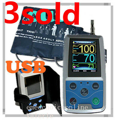 24hrs Ambulatory Blood Pressure Monitor ABPM Holter NIBP MAPA Monitor HealthCare