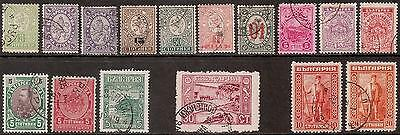Bulgaria, selection of lightly cancelled used stamps 1889 - 1921