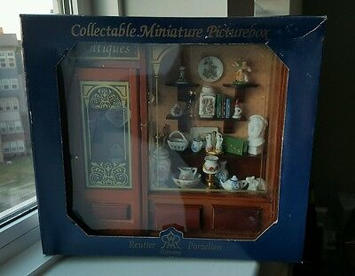 Reutter Porzellan German Wine Room Shadowbox Picture Box Dollhouse Antiques