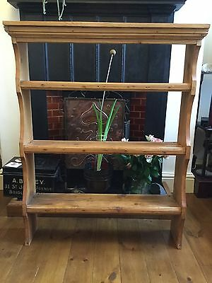 Antique pine display shelves, plate rack, book case, wall mounting