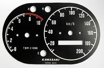 Kawasaki W1 W2 Ss 650 Commander Early And Late Speedo Tach Dial Face Overlays