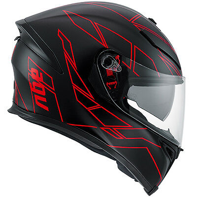 AGV K5 Hero Full Face Motorcycle Motorbike Helmet - Black / Red