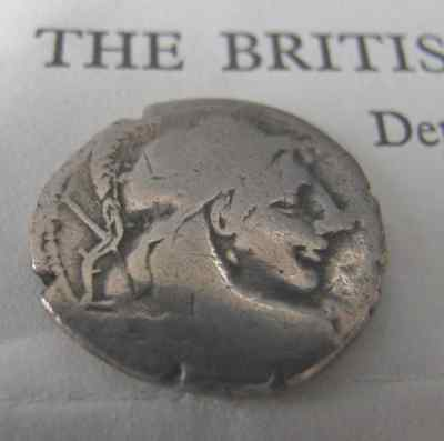 ROMAN Coin 87BC British Museum Letter of Authenticity