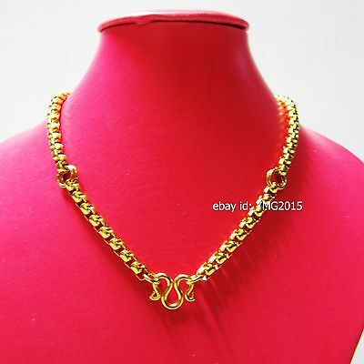 "NECKLACE 3 HOOKs STAINLESS with GOLD Color 26""Length for Hang Amulet Buddha"