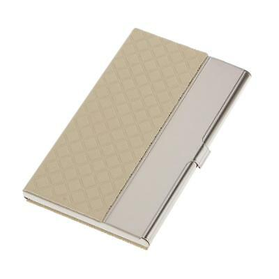Stainless Steel Business Card Name ID Card Holder Case Organizer- White