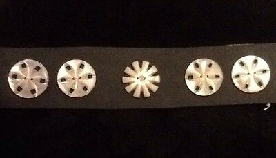 Antique Mother Of Pearl Patterned Buttons