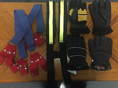 Firefighter Gloves and suspenders
