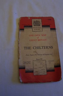 55yr old os map-seventh series published1959 -sheet 159 The Chilterns-Aylesbury