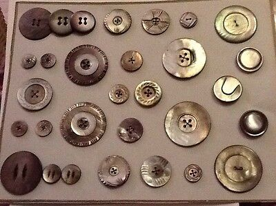 Antique Mother Of Pearl Buttons