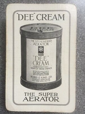 """vintage """"DEE"""" CREAM"""" The Super Aerator linen grained playing cards Waddington"""