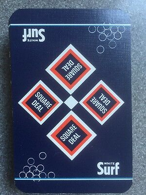 vintage SURF SQUARE DEAL playing cards - linen finish