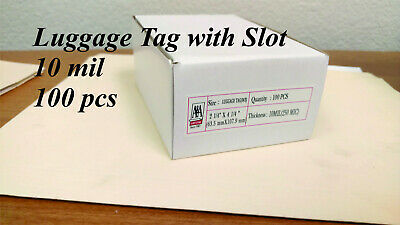 Laminating Pouches Luggage Tag 10 mil