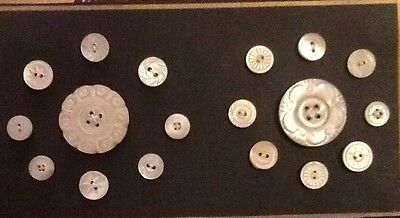Mother Of Pearl Antique Pattern Buttons