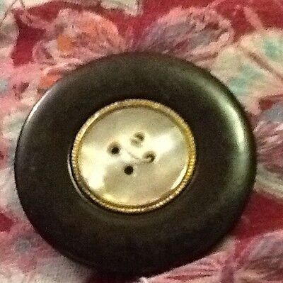 Vintage Metal And Shell Button