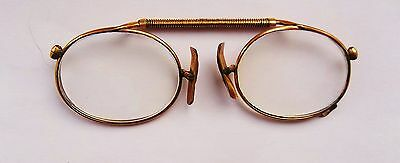 Antique Pince Nez Spectacles Lorgnettes Rolled Rose Gold Frame