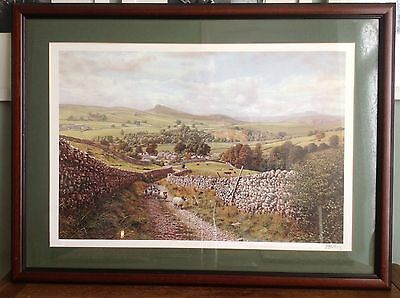 Ribblesdale by Keith Melling - signed open edition print, Mounted and Framed